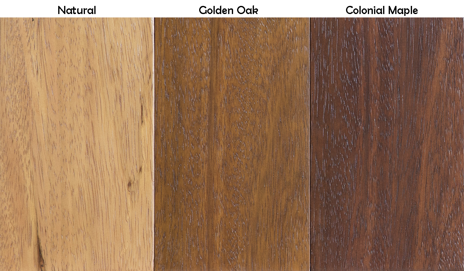 Brazilian Mahogany Stain Samples Light Tones