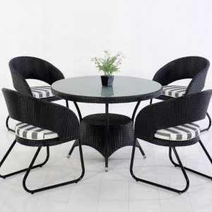 Lazio Dining Set Wicker Furniture Indonesian