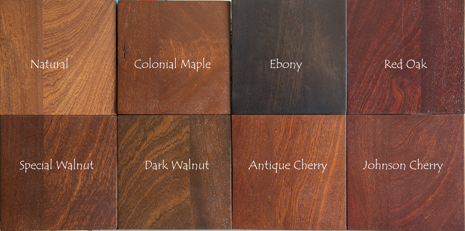 Sapele African Mahogany Stain Samples